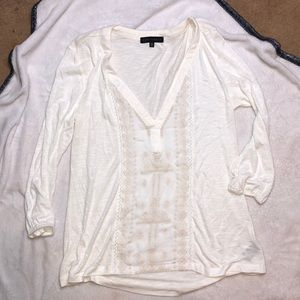 Sanctuary top cream off white 3/4 sleeves small